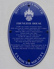 Photo of Ebenezer House blue plaque