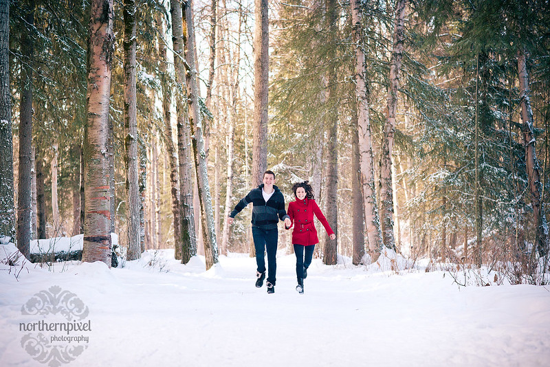 Winter Engagement Session - Prince George BC