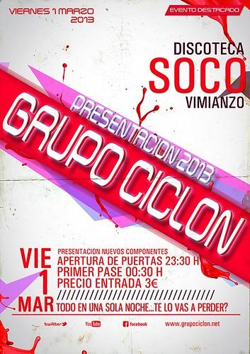 Grupo Ciclón 2013 - cartel presentación xira