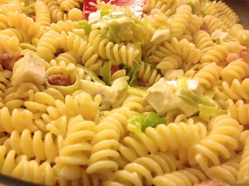 jo pratt pasta with brie bacon leek