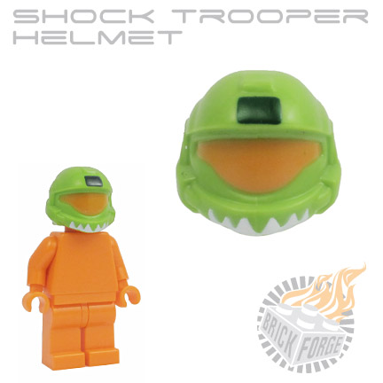 Shock Trooper Helmet - Lime Green (medium orange visor print)