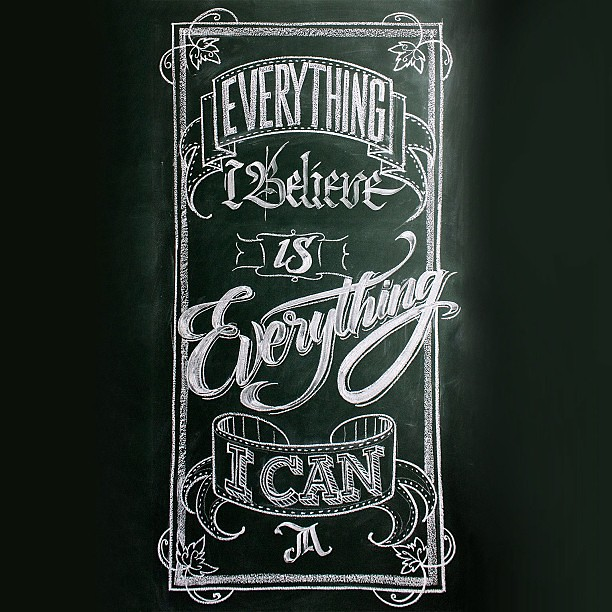 Chalk typography. Calligraphy & lettering on blackboard with chalk and brush. #dailycalligraphy #lettering #calligraphy #chalk #typography