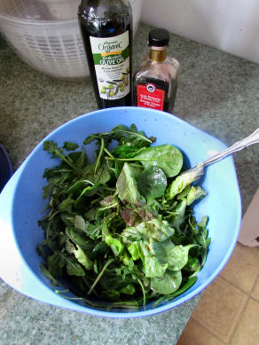 Greens Tossed in Oil and Vinegar