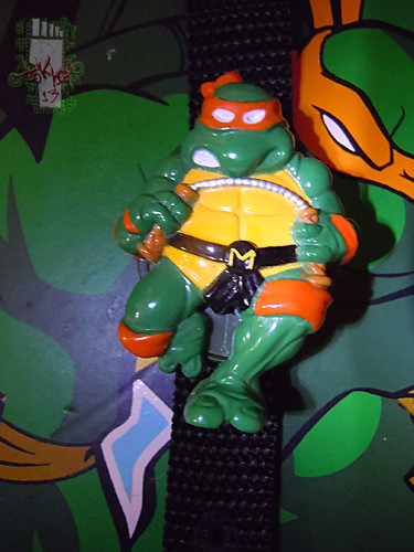 "HOPE INDUSTRIES ""TEENAGE MUTANT NINJA TURTLES""  :: MICHAELANGELO Digital Watch ii  (( 1988 ))"