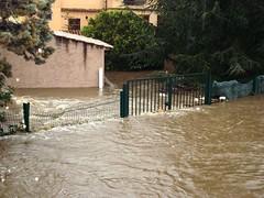 Le Casavecchia en crue débordant chez des voisins