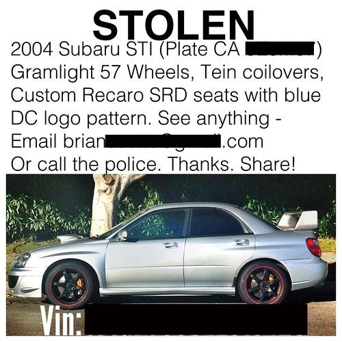 Stolen Car Venice Beach