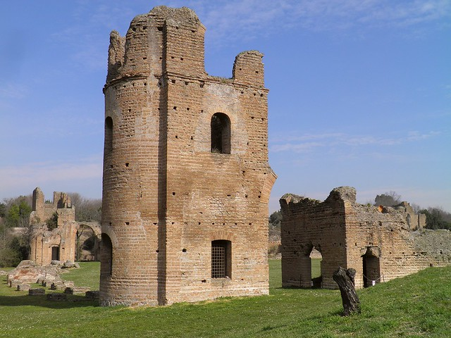 Circus of Maxentius, the towers and starting gates, erected between 306-312, Via Appia, Rome