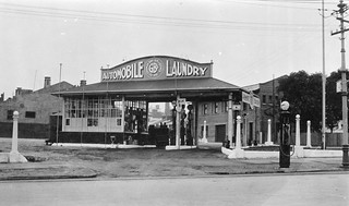Automobile laundry, corner of West Terrace and Hindley Street, 1926