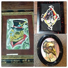 This weeks grab bag painting was plague doctor, bones, knife/dagger. Please vote left, top right, or bottom right. My lunch depends on it. Thanks!