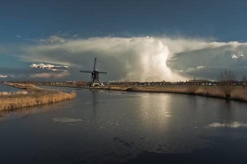 light sky cloud mill dutch wonderful landscape nederland wolken lucht polder kinderdijk alblasserwaard molen landschap alblasserdam supershot cloudsstormssunsetssunrises