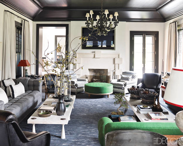 Gray + green living room: Hamptons style by Steven Gambrel : Flickr - Photo Sharing!