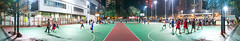 """夜間籃球 Nighttime Basketball"" / 香港體育全景攝影 Hong Kong Sports Panoramic Photography / SML.20130317.7D.35490-SML.20130317.7D.35510-Pano.Cylindrical.196x36.9"