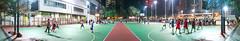 """夜間籃球 Nighttime Basketball"" / 香港體育全景攝影 Hong Kong Sports Panoramic Photography / SML.20130317.7D.35490-SML.20130317.7D.35510-Pano.Cylindrical.196x36.9"