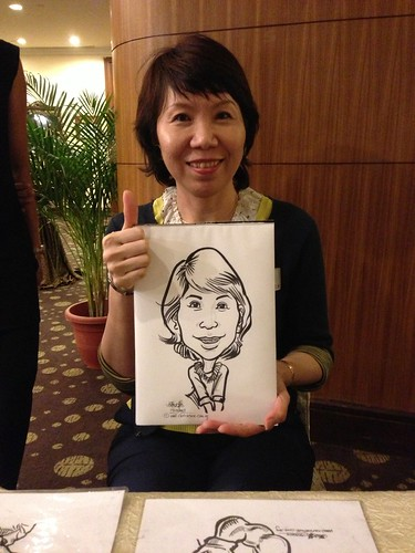caricature live sketching for South West ComCare Local Network Anniversary Dinner cum ComCare Awards 2013 - v