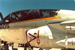 Grumman EA-6B Prowler, port cockpit US Navy hi-viz