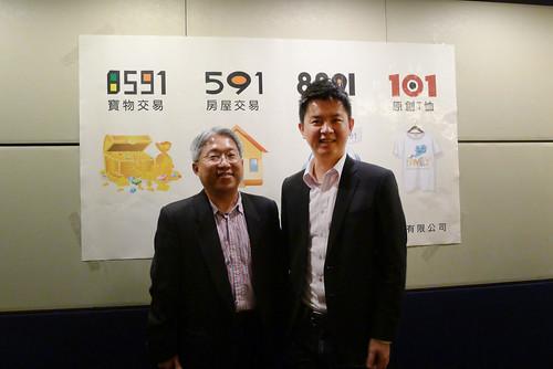 數字科技(5287)董事長廖世芳(左)與總經理吳聰賢(右)2