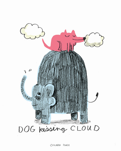 DOG KISSING CLOUD