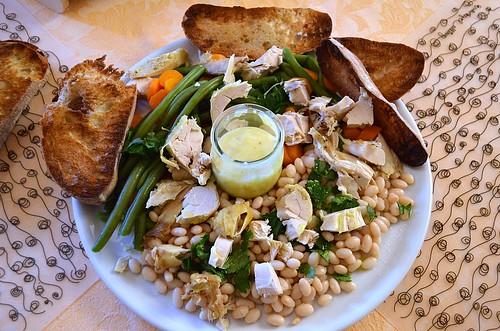 Beans + chicken aïoli