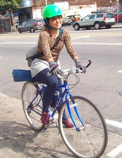 Bicycle Girl in the Mission