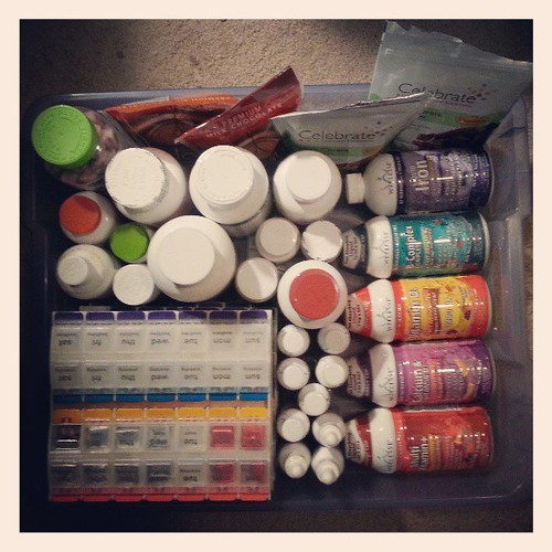 My vitamin stash. #vitamins #supplements #bariatric #gastricbypass #rouxeny #weightlosssurgery #WLS #hoarder