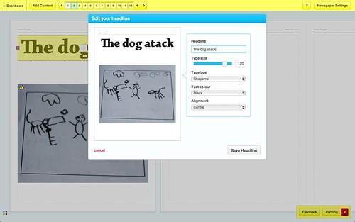 The dog atack