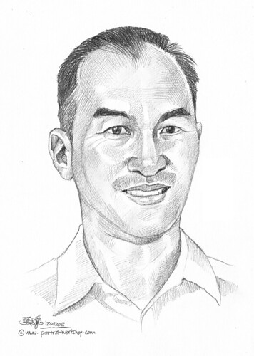 Pencil portrait for Chinese Swimming Club Richard Choo - 26