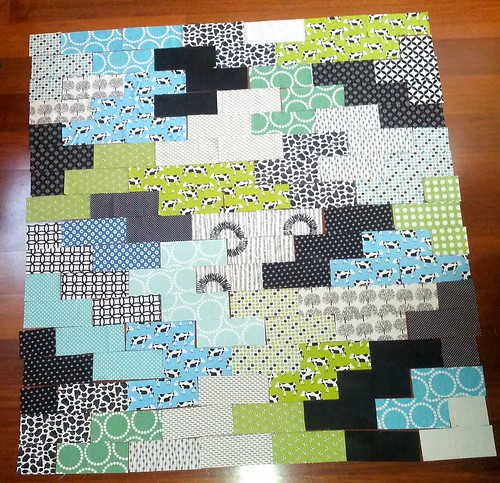 cow quilt layout