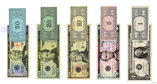 Monopoly money colors