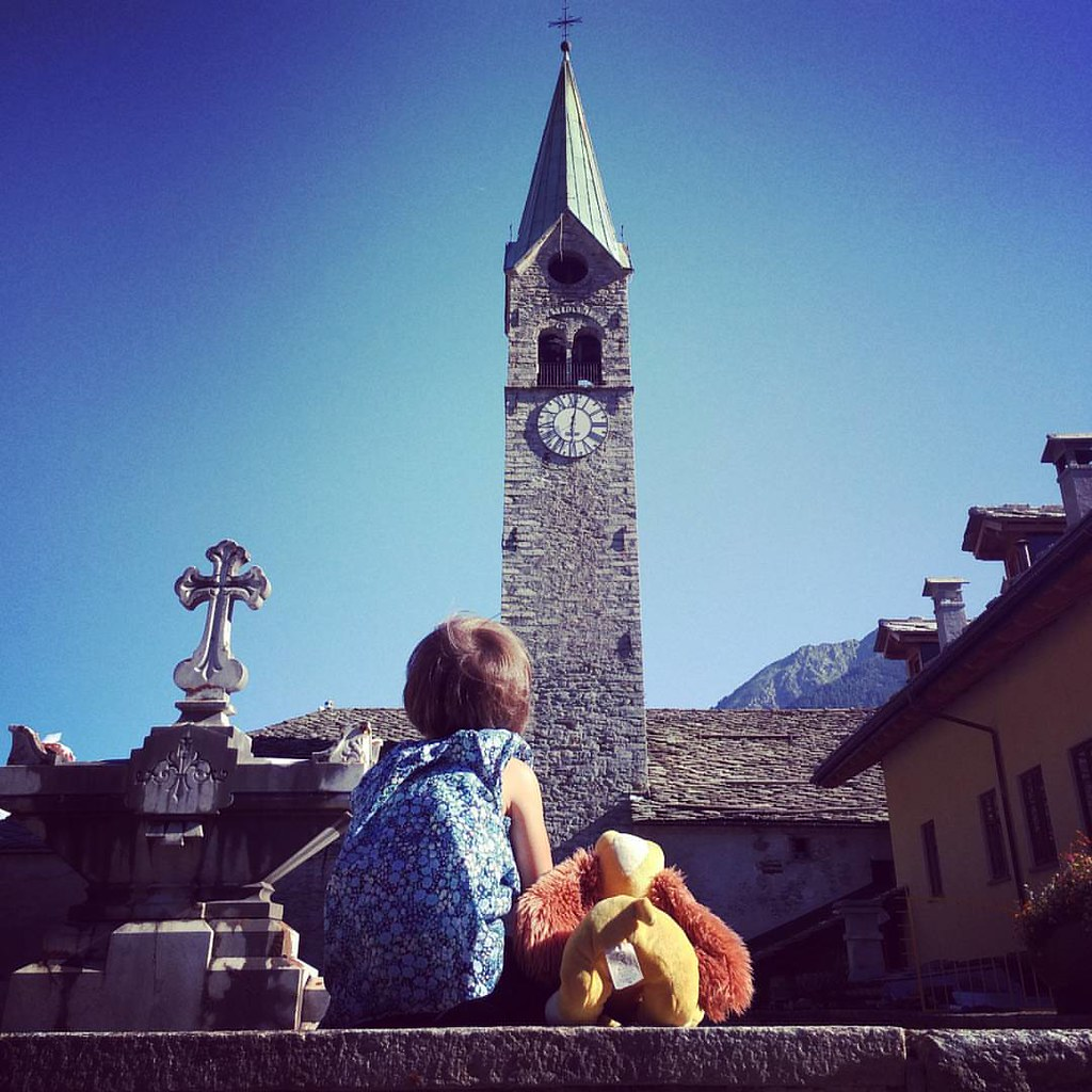 #mountain #bells  #gressoney #church #margherita #ladyandthetramp #sky #summer