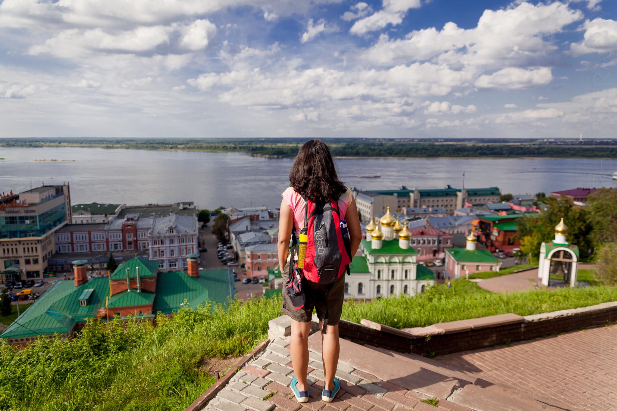 Overlooking the Oka & Volga