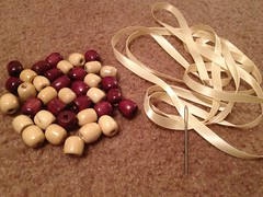 Wooden Bead Bib Necklace - Materials
