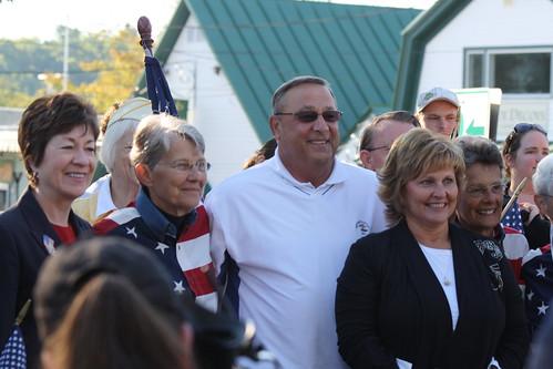 Gov. LaPage, Freeport Flag Ladies and Susan Collins