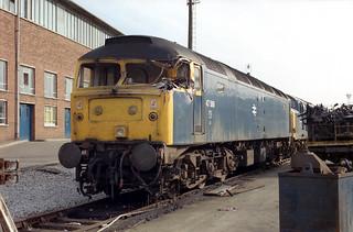 A bent 47589 at Crewe