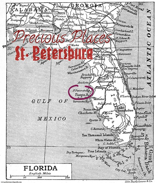 Treasure Island Map of Florida 1906-2