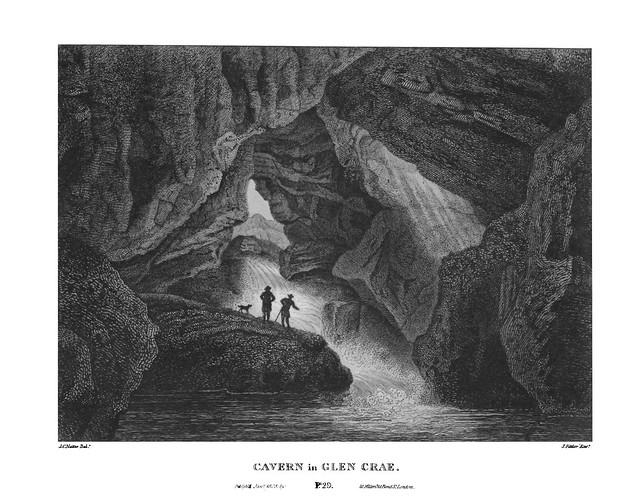 etching: Cavern in Glen Crae