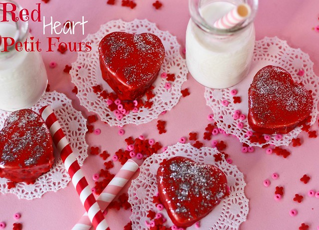 Red Velvet Heart Petit Fours recipe