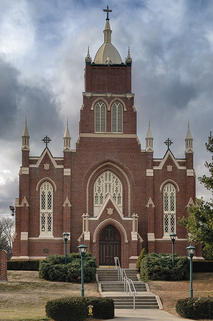 Old Saint Vincent's Catholic Church, in Cape Girardeau, Missouri, USA - exterior front