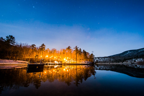 sky lake mountains reflection water night stars lights virginia dock unitedstates millboro