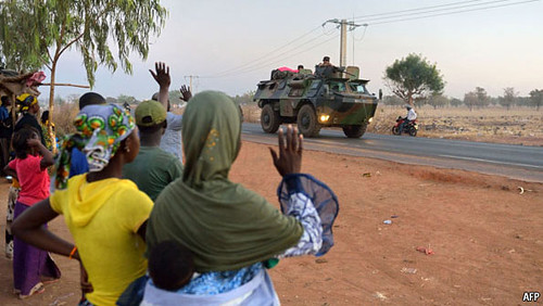 French tanks drive through the West African state of Mali. The imperialists are occupying and bombing the country to seize control of oil, uranium and gold. by Pan-African News Wire File Photos