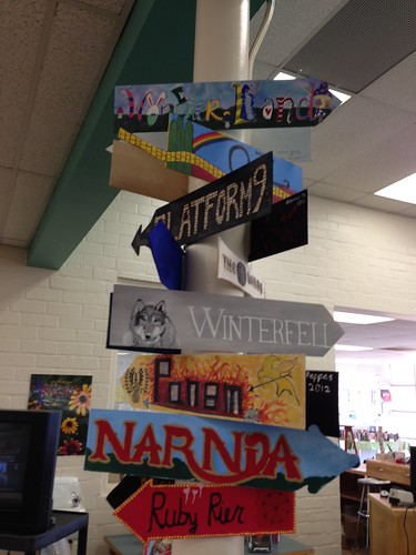 book place signs