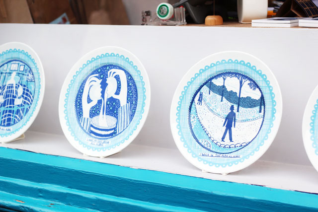 Rob Ryan plates Ryantown shop Columbia road