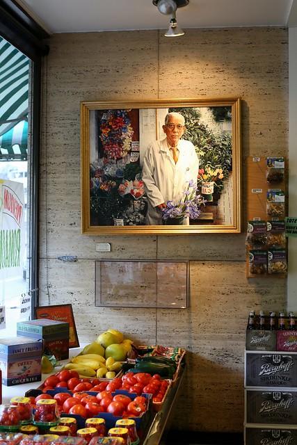 Painting inside Sendik's Grocery Store, Downer Avenue