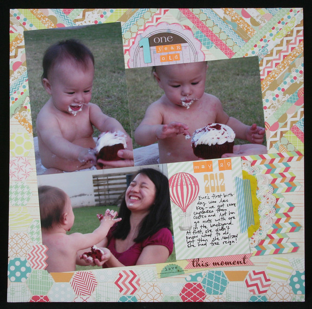 One Year Old Layout | shirley shirley bo birley Blog