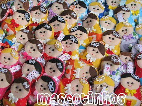 Matrioskas! by Mascotinhos em Feltro
