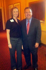 Noelle Anderson with guest speaker Kevin Sullivan.