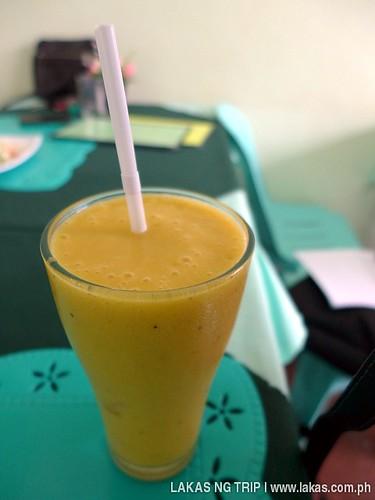 Banana Mango Smoothie with Celery (75 Pesos) at Loid Vegetarian & Raw Food Resto at Puerto Princesa City, Palawan