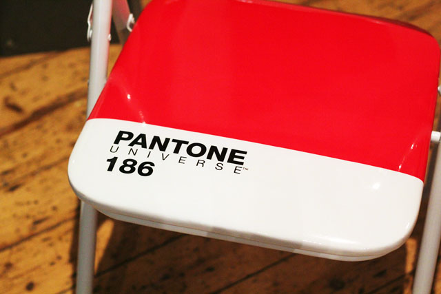 pantone 186 red chair Urban Outfitters SS13 press day