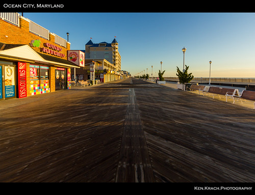 ocean morning beach sunrise maryland boardwalk oceancity