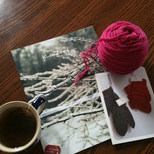 My plans for the afternoon #knitting & #kindredmag