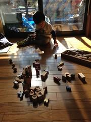 実家で積木遊び 2013/1/26